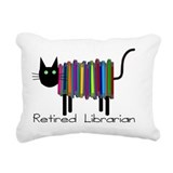 Retired librarian Throw Pillows