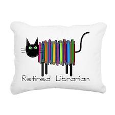 Retired Librarian Book C Rectangular Canvas Pillow