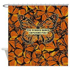 Catching Fire Butterflies Shower Curtain
