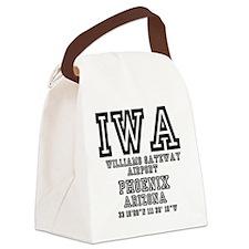 US JETPORT CODES - IWA - WILLIAMS Canvas Lunch Bag
