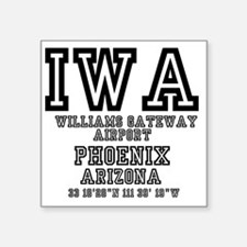 "US JETPORT CODES - IWA - WI Square Sticker 3"" x 3"""
