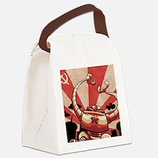 COLD WAR RETRO ROBOT Canvas Lunch Bag