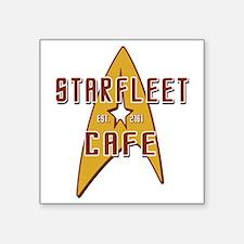 "StarFleet Cafe Square Sticker 3"" x 3"""