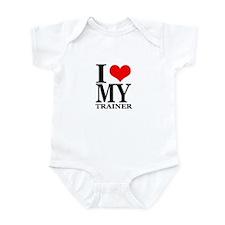 """I Love My Trainer"" Infant Bodysuit"