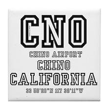AIRPORT JETPORT  CODES - CHO, CHINO A Tile Coaster