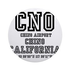 AIRPORT JETPORT  CODES - CHO, CHINO Round Ornament