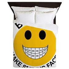 Braces Make Smiling Faces Queen Duvet