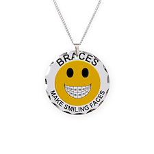 Braces Make Smiling Faces Necklace Circle Charm