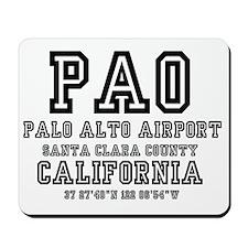 AIRPORT JETPORT  CODES - PAO PALO,ALTO,S Mousepad