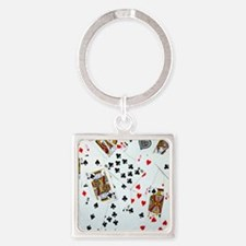 Playing Cards Square Keychain