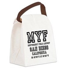 AIRPORT JETPORT  CODES - MYF - MO Canvas Lunch Bag