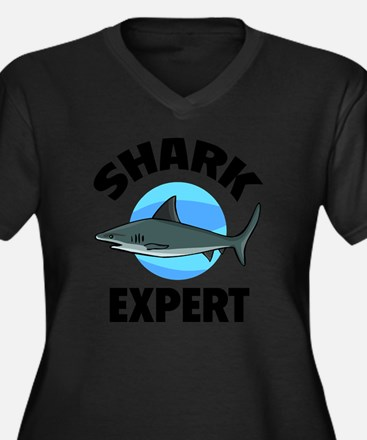 gfShark82 Women's Plus Size Dark V-Neck T-Shirt