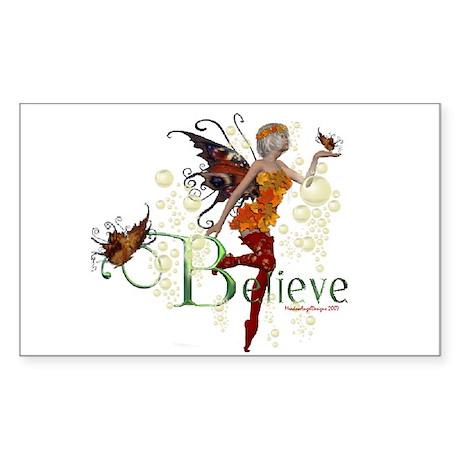 Autumn Believe Rectangle Sticker