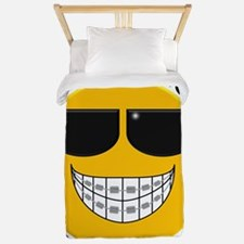 Braces Are Cool with Sunglasses Twin Duvet