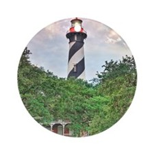 St Augustine Lighthouse 1 SQ 2 Round Ornament