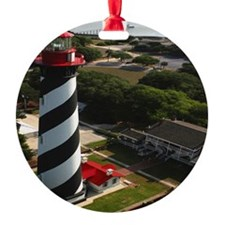 St Augustine Lighthouse Aerial SQ Ornament