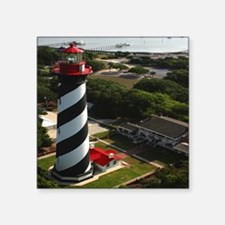"""St Augustine Lighthouse Aer Square Sticker 3"""" x 3"""""""