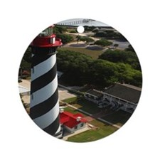 St Augustine Lighthouse Aerial SQ Round Ornament