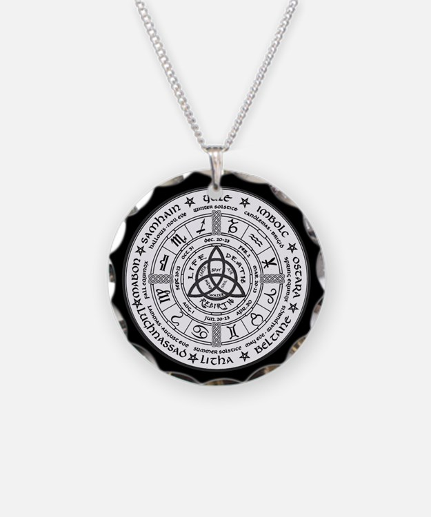 Year Wheel Necklace Circle Charm