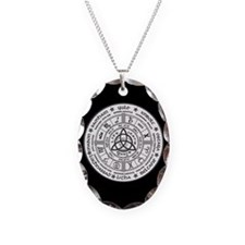 Year Wheel Necklace Oval Charm