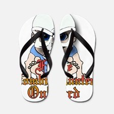 Future zombie hunter Flip Flops