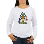 Bahamas Coat of Arms Women's Long Sleeve T-Shirt