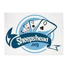 Sheepshead Logo 5'x7'Area Rug