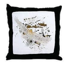 Vintage Flying Eagle Throw Pillow