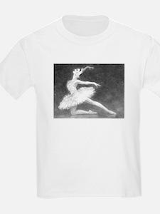 Swan Dancer Kids T-Shirt