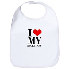 """I Love My Secretary"" Bib"