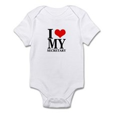 """I Love My Secretary"" Onesie"