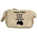 Keep Calm & Eat Fried Chicken Messenger Bag