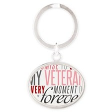 I Promise to love my Veteran Oval Keychain