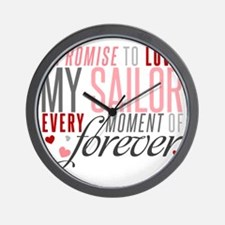 I Promise to love my Sailor Wall Clock
