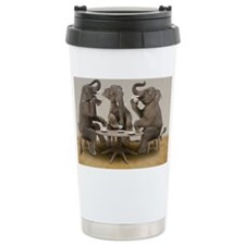 Elephants having tea party Travel Mug