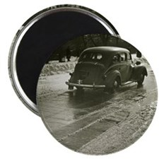 Car on road Magnet