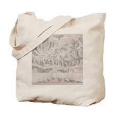 Antique map of glacier systems of the Alp Tote Bag