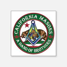 "California Freemasons Square Sticker 3"" x 3"""