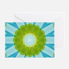 blue and Green arrows kaleidoscope Greeting Card