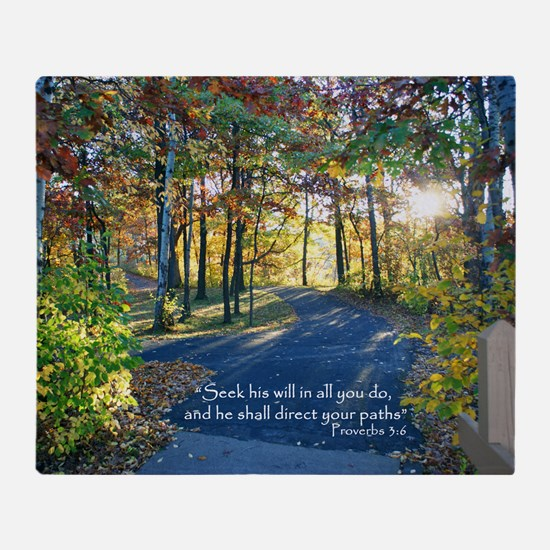 Direct your paths... Throw Blanket