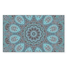 blue Paisley mosaic Mandala Decal