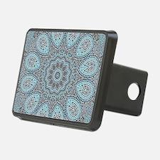 blue Paisley mosaic Mandal Hitch Cover