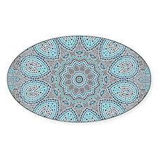 blue Paisley mosaic Mandala Decal