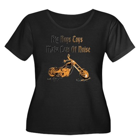 Big Boys Women's Plus Size Dark Scoop Neck T-Shirt