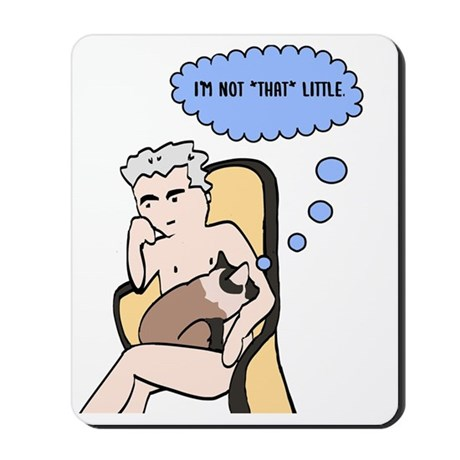 Naked Derrida, with Cat Mousepad