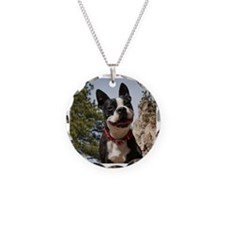 Boston Terrier Circle Necklace