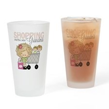 Shopping with Grandma Drinking Glass