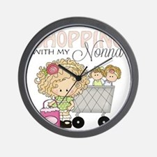 Shopping with Nonna Wall Clock