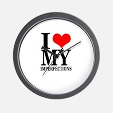 """I Love My Imperfections"" Wall Clock"