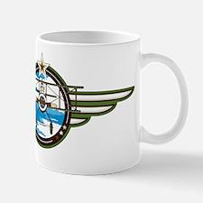 Airforce Pilot in Biplane Mug